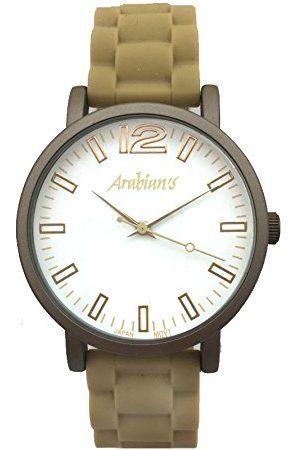 Arabians Męski analogowy zegarek kwarcowy z silikonową bransoletką DBA2122B