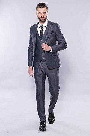 Wessi Męski, smukły krój, wzorzysty strój z kamizelką, zestaw do stroju