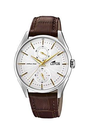Lotus Męski wielofunkcyjny zegarek kwarcowy ze skórzanym paskiem 18523/1