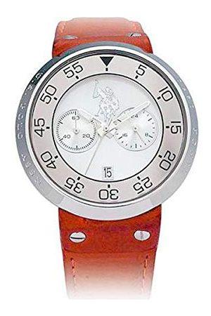 Ralph Lauren Męski data klasyczny zegarek kwarcowy ze skórzanym paskiem USP9002SL-L