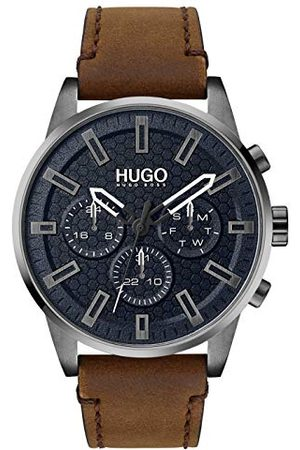 HUGO BOSS Męski analogowy zegarek kwarcowy ze skórą cielęcą, pasek 1530176