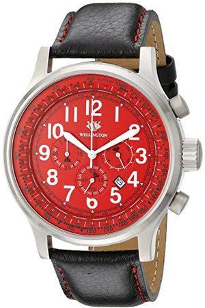 Daniel Wellington Męski zegarek kwarcowy z czarną tarczą chronografu i czarną bransoletą ze stali nierdzewnej WN302-142