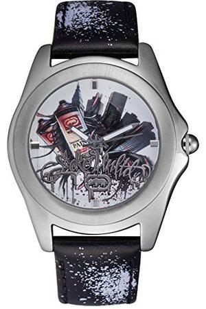 Marc Ecko Męski data klasyczny zegarek kwarcowy ze skórzanym paskiem E07502G3