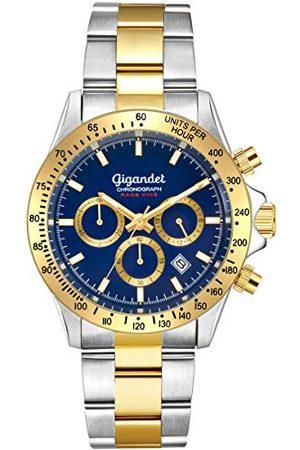 Gigandet Męski analogowy zegarek kwarcowy z bransoletką ze stali szlachetnej G33-004