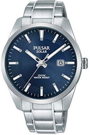 Pulsar Solar PX3181X1 zegarek męski ze stali nierdzewnej z metalowym paskiem