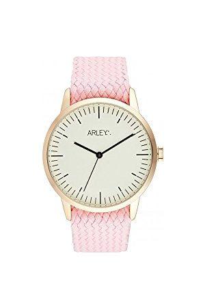 Arley Unisex analogowy zegarek kwarcowy z bransoletką z materiału ARL1006