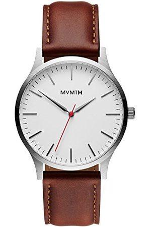MVMT Męski analogowy zegarek kwarcowy ze skórzanym paskiem ze skóry cielęcej D-MT01-SNA
