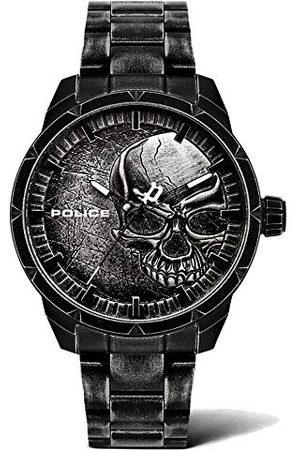 Police Męski analogowy zegarek kwarcowy z bransoletką ze stali szlachetnej PL15715JSQU.78M