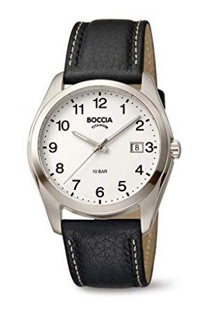 Boccia Męski analogowy zegarek kwarcowy ze skórzanym paskiem 404TT3608-13