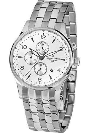 Jacques Lemans Męski chronograf kwarcowy zegarek z bransoletką ze stali szlachetnej 1-1844ZF