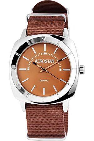 Aerostar Męski analogowy zegarek kwarcowy z bransoletką z materiału 21102750005