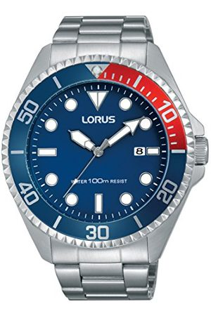 Lorus Sportowy męski zegarek ze stali nierdzewnej z metalowym paskiem RH941GX9