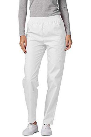 Adar Uniforms Damskie spodnie medyczne 503whtm, białe, M UK