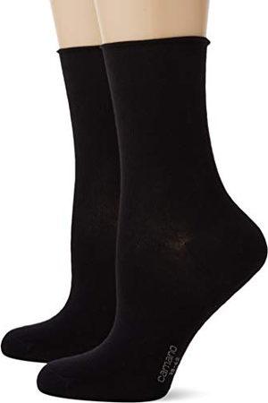 Camano Damskie skarpetki 2281, czarne (Black 0005), 39/42 (2 sztuki)
