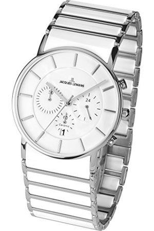 Jacques Lemans Męski analogowy zegarek kwarcowy z ceramiczną bransoletką 1-1815B