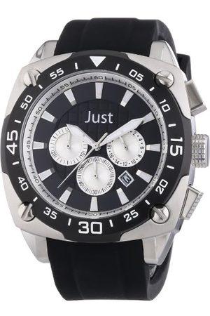 Just Watches Męski zegarek na rękę XL analogowy kwarcowy kauczuk 48-STG2373-BK