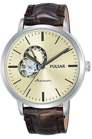 Pulsar P9A007X1 automatyczny zegarek męski ze skórzanym paskiem