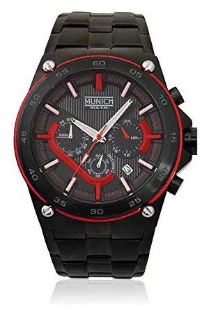 Munich Unisex dla dorosłych analogowy zegarek kwarcowy z bransoletką ze stali szlachetnej MU+141.1A