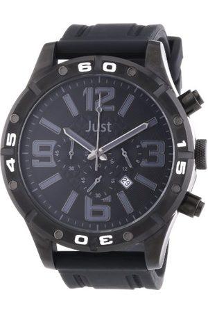 Just Watches Męski zegarek na rękę XL analogowy kwarcowy kauczuk 48-S3978-BK-BK