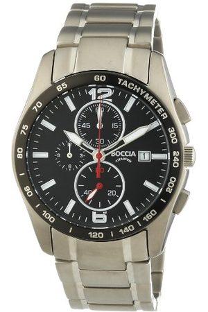 Boccia Męski zegarek na rękę XL chronograf kwarcowy tytan 3767-02