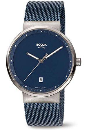 Boccia Męski analogowy zegarek kwarcowy z bransoletką ze stali szlachetnej 3615-05