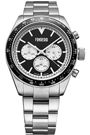 Fonderia Męski analogowy zegarek kwarcowy Smart Watch z bransoletką ze stali szlachetnej P-0A011UNW