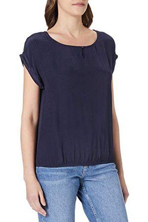 Mexx Damska bluza z krótkim rękawem z przodu, dżersej z tyłu