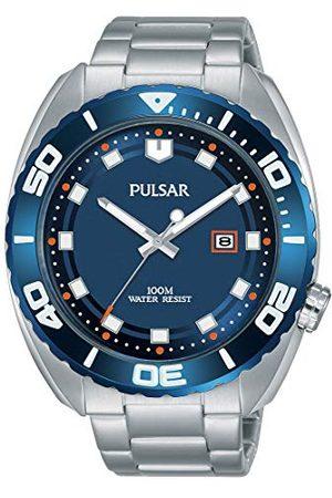 Pulsar Sport PG8281X1 męski zegarek ze stali nierdzewnej z metalowym paskiem