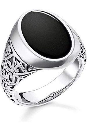 Thomas Sabo Męski sygnet ze srebra wysokiej próby 925 z rozmiarem pierścionka 60 TR2242-698-11-60