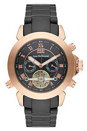 Jean Bellecour Męski analogowy zegarek kwarcowy z bransoletką ze stali szlachetnej REDS7