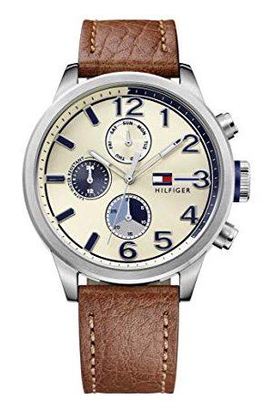 Tommy Hilfiger Męski analogowy zegarek kwarcowy ze skórzanym paskiem 1791239