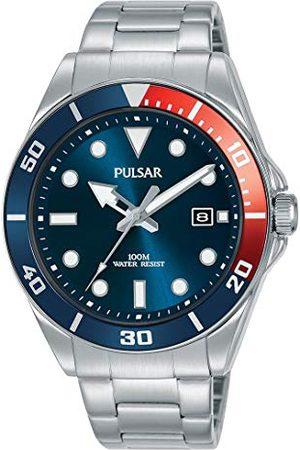 Seiko UK Limited - EU Seiko UK Limited - UE męski analogowy japoński kwarcowy pulsar inspirowany nurkiem sukienka zegarek z bransoletą ze stali nierdzewnej z paskiem ze stali nierdzewnej PG8291X1