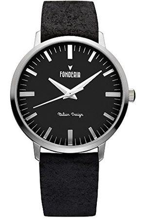 Fonderia Męski analogowy zegarek kwarcowy Smart Watch ze skórzanym paskiem P-6A003UN3