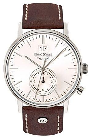 Soehnle Bruno Söhnle męski analogowy zegarek kwarcowy ze skórzanym paskiem 17-13180-247