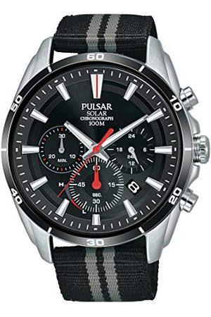 Pulsar Sport PZ5091X1 zegarek męski z solarnym chronografem, stal nierdzewna z paskiem tekstylnym