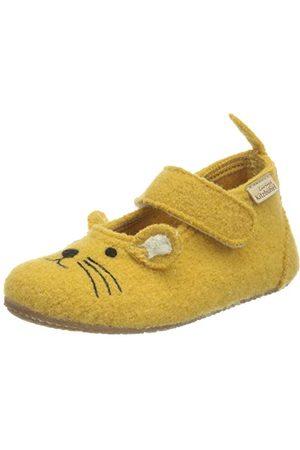 Living Kitzbühel Unisex Baby ballerina kapcie domowe dla niemowląt, żółty - cytrus - 21 EU