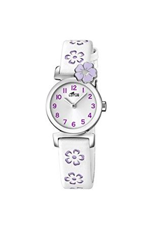 Lotus Analogowy klasyczny zegarek kwarcowy dla dziewcząt ze skórzanym paskiem 18174/3
