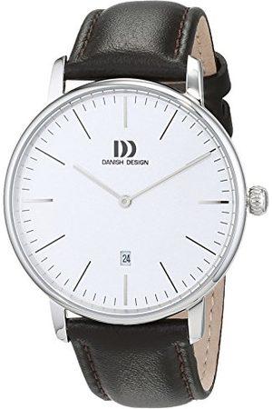 Danish Design Męski analogowy zegarek kwarcowy ze skórzaną bransoletką 3314538