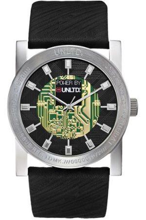 Ecko Marc Ecko męski zegarek snowy Techno E10041G1 z czarną tarczą i czarnym skórzanym paskiem
