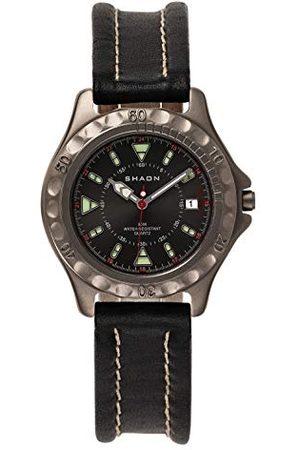 Shaon Męski analogowy zegarek kwarcowy ze skórzanym paskiem 22-6102-84