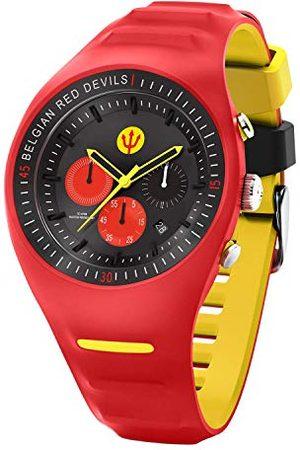 Ice-Watch RED DEVILS P. Leclercq - czerwony - męski zegarek z paskiem silikonowym - Chrono - 016102 (Large)