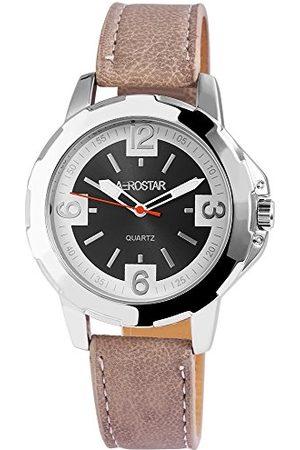 Aerostar Męski analogowy zegarek kwarcowy z imitacji skóry 21102100010