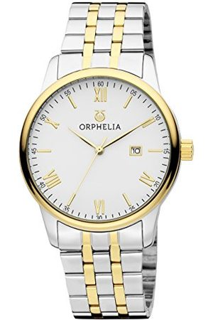 ORPHELIA Męski zegarek na rękę Sterling analogowy kwarcowy stal szlachetna bransoletka srebro/złoto