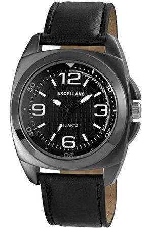 Excellanc Męski zegarek na rękę XL analogowy kwarcowy skóra 29317110008
