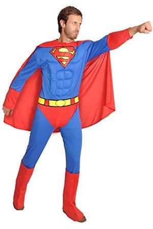 CIAO Męski kostium Superman Costume Adulto oryginalny kostium DC Comics (Taglia L) con muscoli pettorali imbottiti, / , L