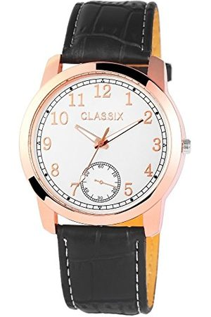 CLASSIX Męski analogowy zegarek kwarcowy ze skórzanym paskiem RP4783250004