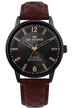 Ben Sherman Męski analogowy klasyczny zegarek kwarcowy ze skórzanym paskiem WB029TB