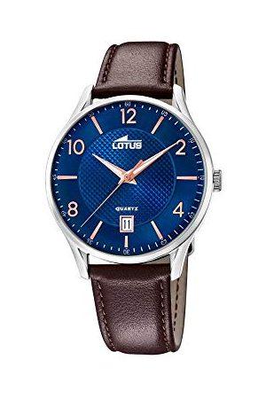 Lotus Męski analogowy zegarek kwarcowy ze skórzanym paskiem 18402/E