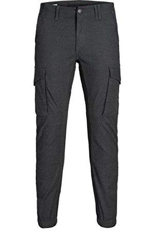 Jack & Jones Męskie JJIPAUL JJFLAKE AKM 756 HERRINGBONE STS spodnie, niebieskie (Black Black), W29/L30 (rozmiar producenta: 29)