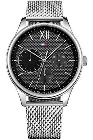 Tommy Hilfiger Męski wielofunkcyjny zegarek kwarcowy z paskiem ze stali nierdzewnej 1791415
